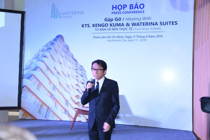 Press conference with Professor Kengo Kuma and Waterina Suites
